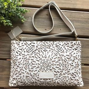 Isabella Fiore Bags - NWT Isabella Fiore White Leather Crossbody/ Clutch